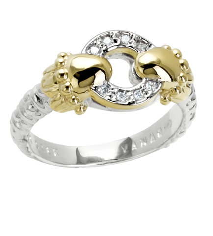 Vahan - 14K Yellow Gold & Sterling Silver Diamond Ring - Kuhn's Jewelers