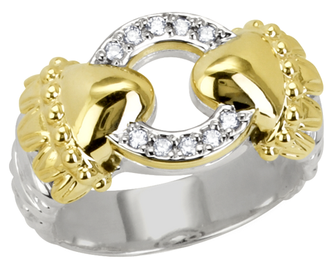 Vahan 14K Yellow Gold & Sterling Silver, Diamond Ring - Kuhn's Jewelers - 12774D