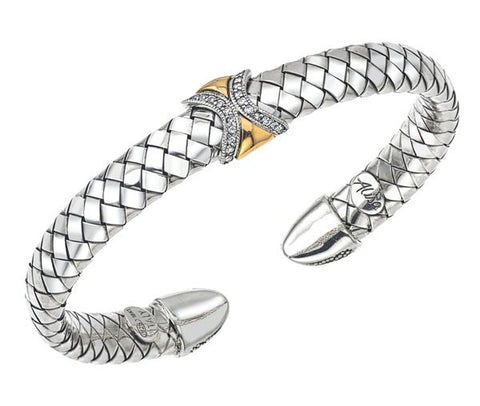 Alisa - Sterling Silver & 18K Bangle - Kuhn's Jewelers