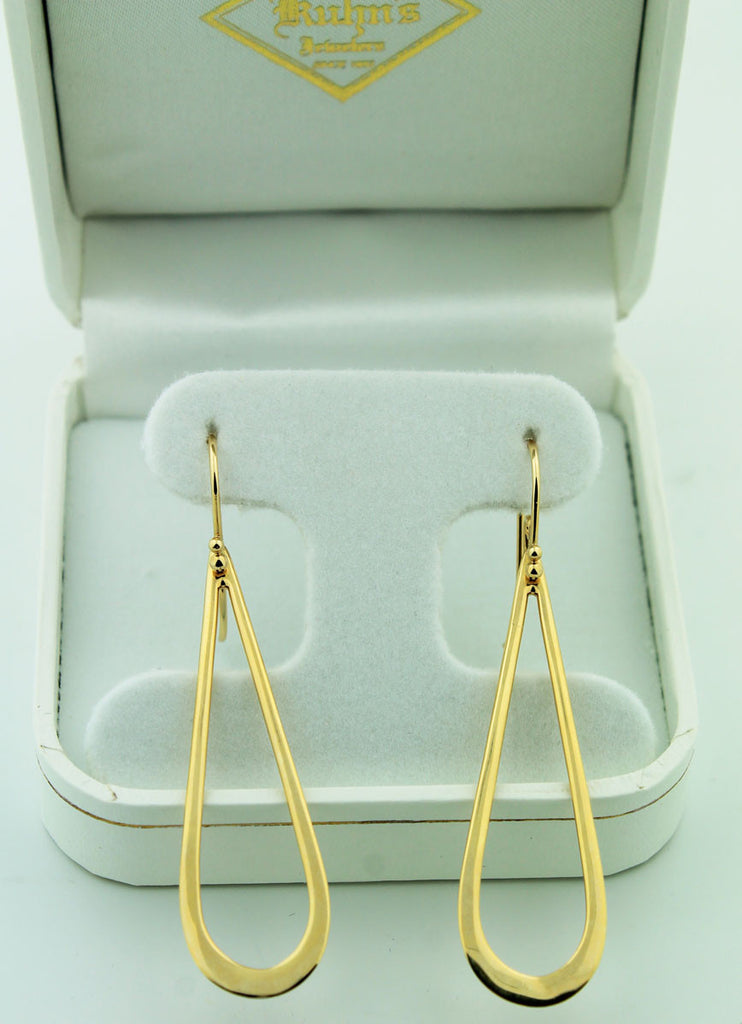 Gold Teardrop Earrings - Kuhn's Jewelers
