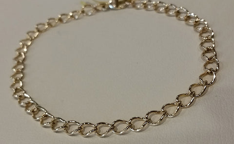 14k Yellow Gold Thin Chain Bracelet
