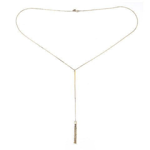 18K Yellow Gold Lariat Necklace - Kuhn's Jewelers