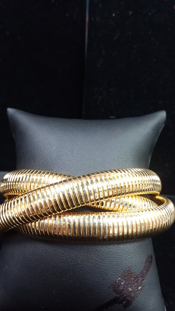 Triple Cobra Gold Bracelet