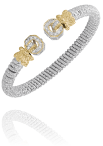 Vahan - 14K Gold & Sterling Silver, Diamond Bracelet - Kuhns Jewelers - 21396D