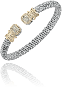Vahan - 14K Gold & Sterling Silver, Diamond Bracelet -Kuhns Jewelers - 21396D