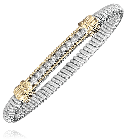 Vahan - 14K Gold & Sterling Silver, Diamond Bracelet - Kuhns Jewelers - 21707D