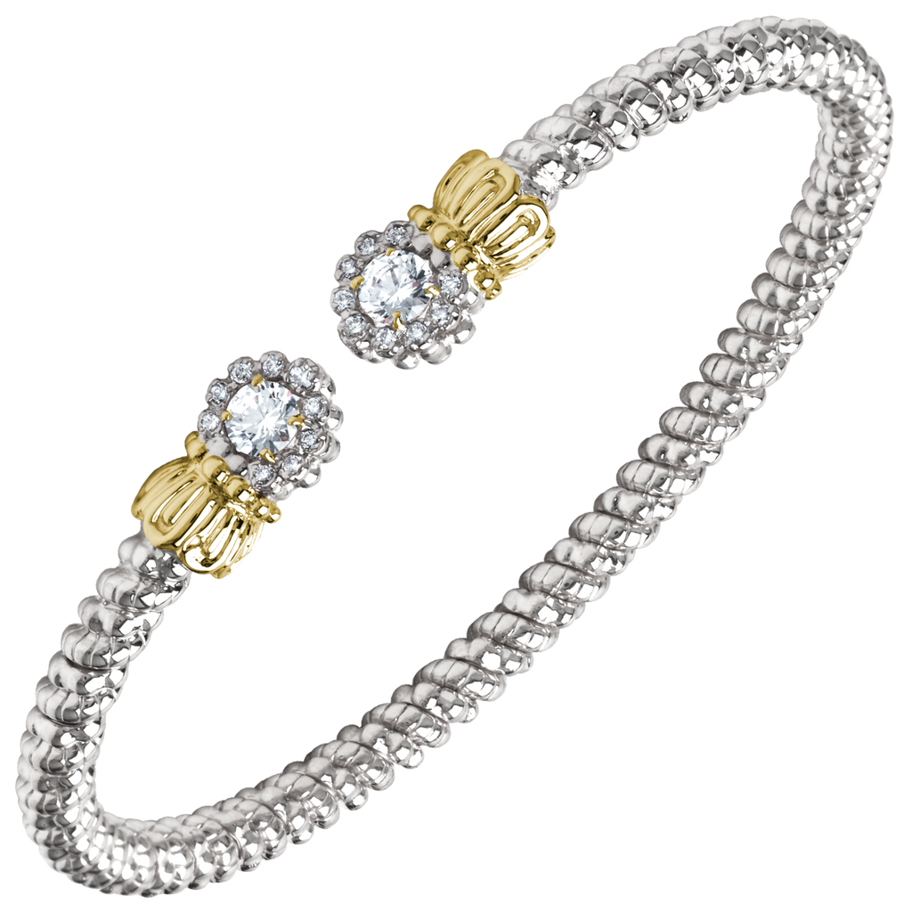 Sterling Silver & 14K Yellow Gold Bracelet
