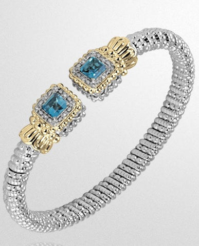 Vahan 6mm Blue Topaz - Kuhn's Jewelers