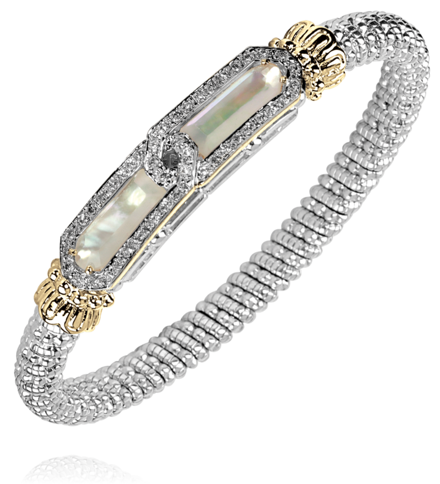 Vahan - 14K Gold & Sterling Silver, Mother of Pearl Bracelet - Kuhn's Jewelers