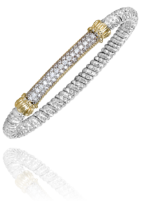 Vahan - 14K Gold & Sterling Silver, Diamond Bracelet - Kuhn's Jewelers - 22738D06