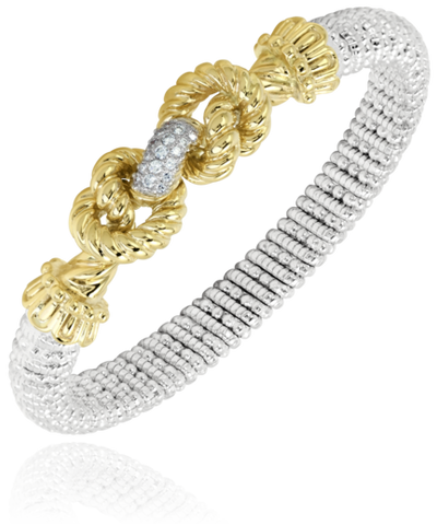 Vahan - 14K Yellow Gold & Sterling Silver, Diamond Bracelet - Kuhn's Jewelers - 22806D08