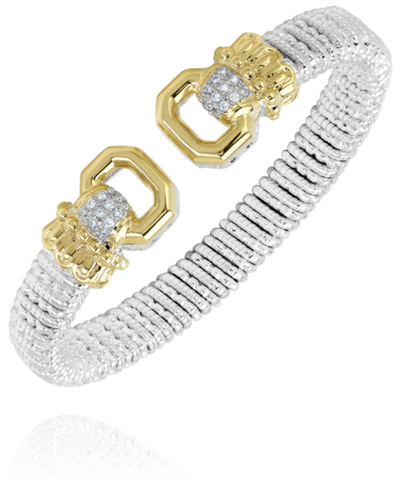 Vahan - 14K Yellow Gold & Sterling Silver Diamond Bracelet - Kuhns Jewelers - 22920D08