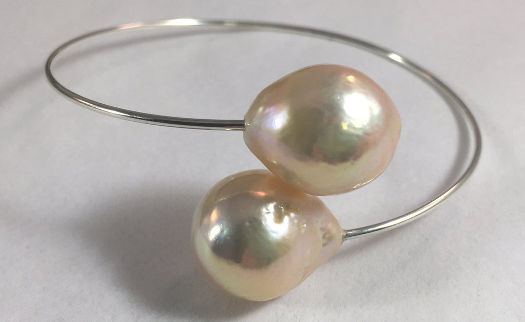 Multi-Color Baroque Pearl Bypass Bracelet
