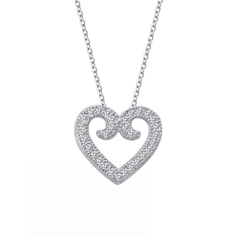 Lassaire Diamond Elegant Heart Necklace