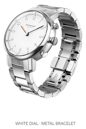 Connected Nord Watch - White Dial & Metal Bracelet