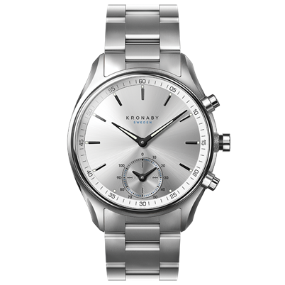 Connected Sekel Watch - Silver Dial & Metal Bracelet