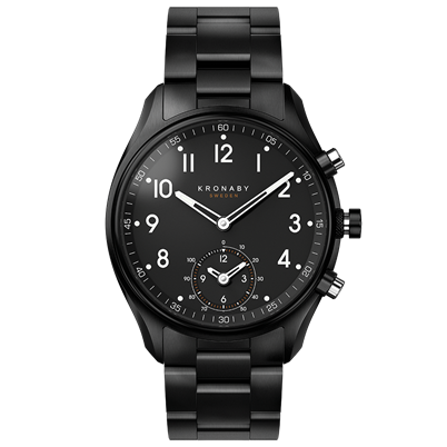 Connected Apex Watch - Black Dial & Black Metal Bracelet