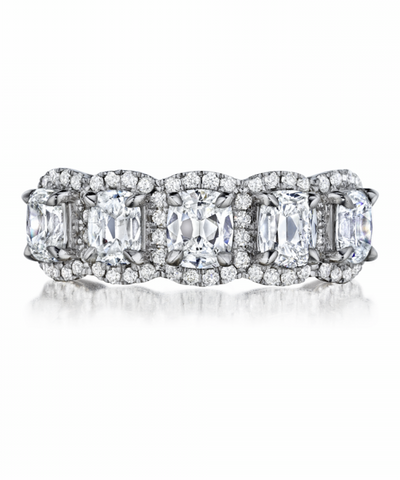 18K Diamond Wedding Band - Henri Daussi