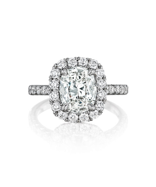 18K diamond engagement ring  - Henri Daussi