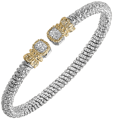 Alwan Vahan Silver Gold diamond bracelet - Kuhn's Jewelers