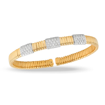 Doves - Yellow Gold Diamond Fashion Bangle