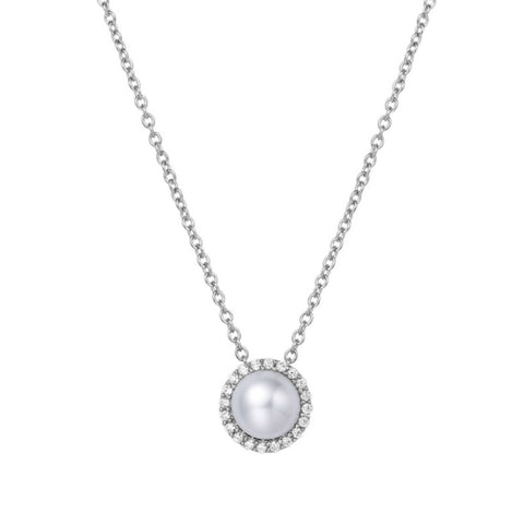 Pearl and Lassaire Diamond Pendant
