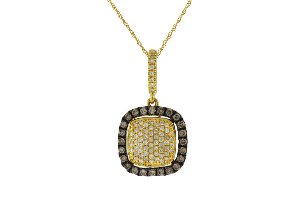 Mocha & White Diamond Pendant - Kuhn's Jewelers