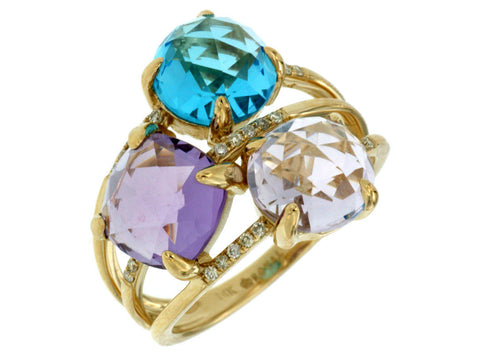 DIAMOND & SEMI PRECIOUS RING - Kuhn's Jewelers