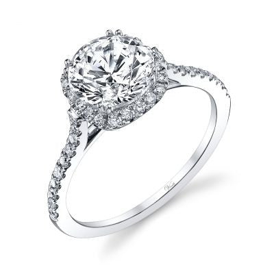 14K White Gold and Diamond Engagement Ring - Kuhn's Jewelers