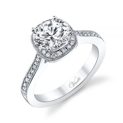 14K White Gold & Diamond Engagement Ring - Kuhn's Jewelers