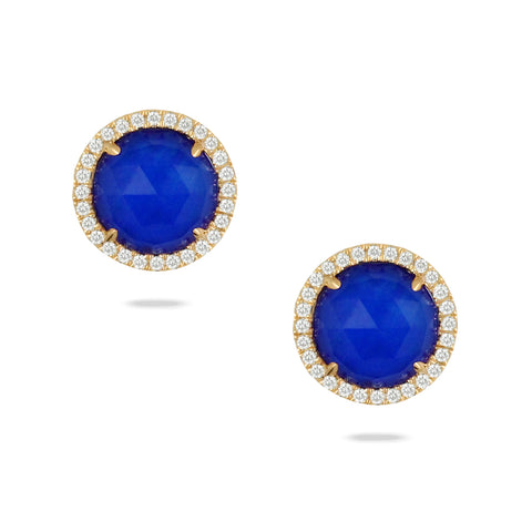 Diamond Lapis Earrings