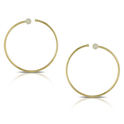 Doves - Diamond Fashion Collection - Diamond Hoop Earrings