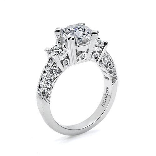 Diamond Eternity Roundstone Engagement Ring - Kuhn's Jewelers - 2