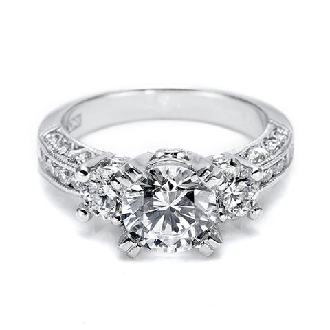 Diamond Eternity Roundstone Engagement Ring - Kuhn's Jewelers - 1