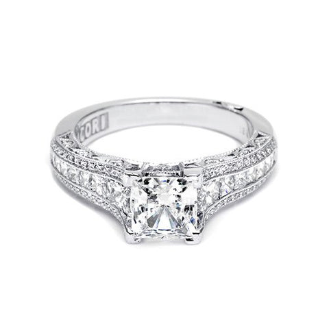 Elegant Platinum & Diamond Engagement Ring - Kuhn's Jewelers - 1