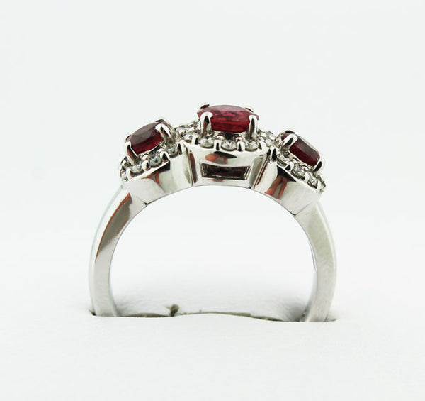 Three Stone Ruby & Diamond Ring - Kuhn's Jewelers - 3