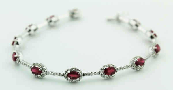 Diamond & Ruby Bracelet - Kuhn's Jewelers - 1