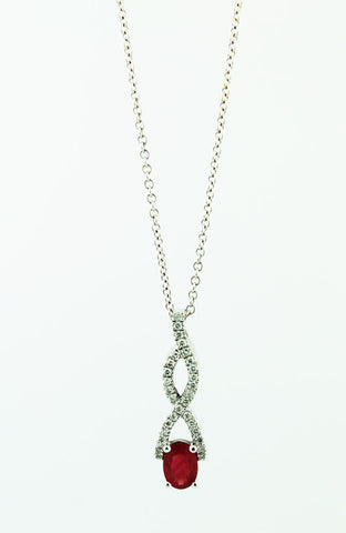Diamond & Ruby Pendant Necklace - Kuhn's Jewelers