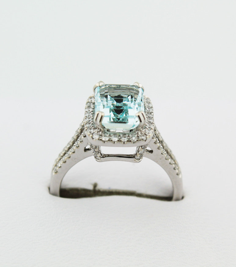 Aquamarine & Diamond Ring - Kuhn's Jewelers - 1