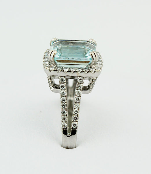 Aquamarine & Diamond Ring - Kuhn's Jewelers - 2