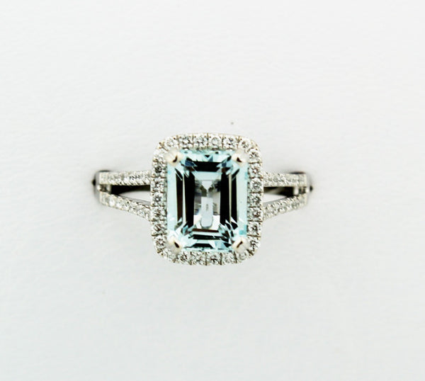Aquamarine & Diamond Ring - Kuhn's Jewelers - 3
