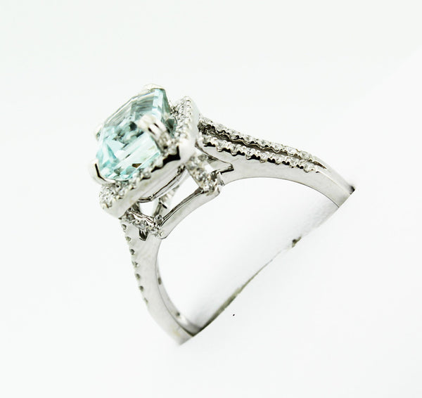 Aquamarine & Diamond Ring - Kuhn's Jewelers - 4