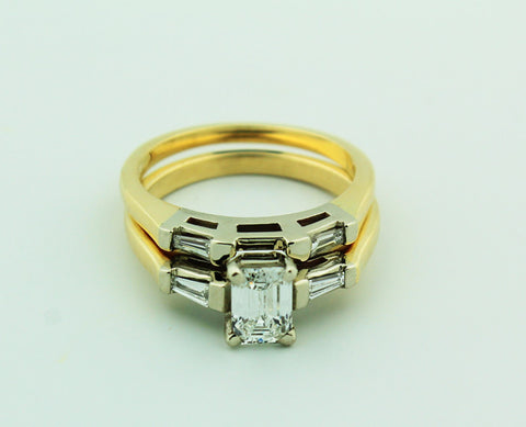 Complete Engagement Ring & Wedding Band Set - Kuhn's Jewelers - 1