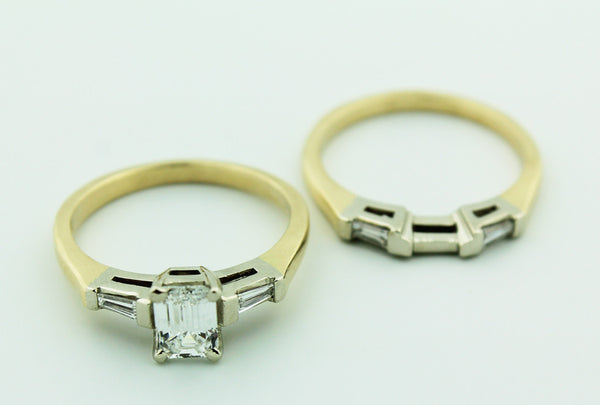 Complete Engagement Ring & Wedding Band Set - Kuhn's Jewelers - 2