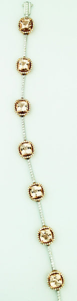 Morganite & Diamond Bracelet - Kuhn's Jewelers - 2