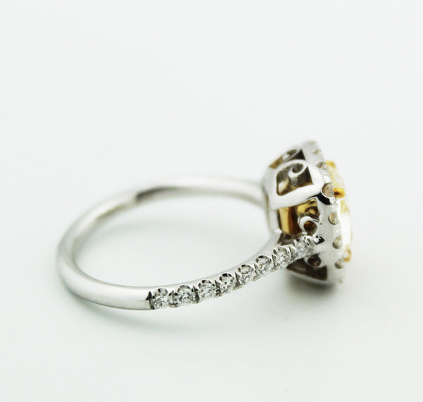 Yellow Diamond Engagement Ring - Kuhn's Jewelers - 2