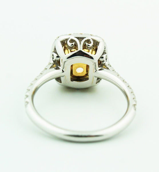 Yellow Diamond Engagement Ring - Kuhn's Jewelers - 3
