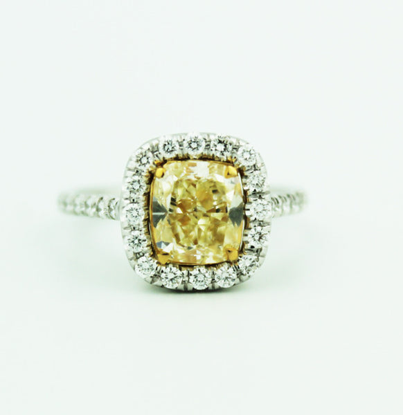 Yellow Diamond Engagement Ring - Kuhn's Jewelers - 1