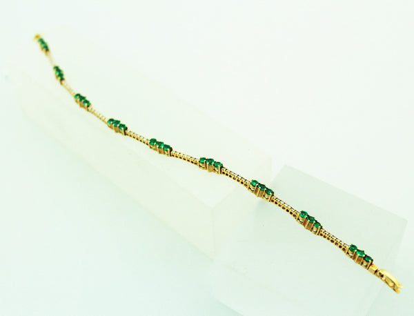 Emerald & Diamond Bracelet - Kuhn's Jewelers - 2