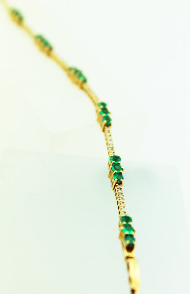 Emerald & Diamond Bracelet - Kuhn's Jewelers - 4